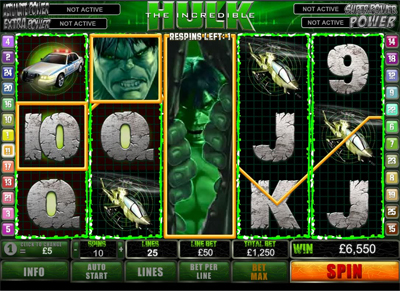 Hulk Slot Machine